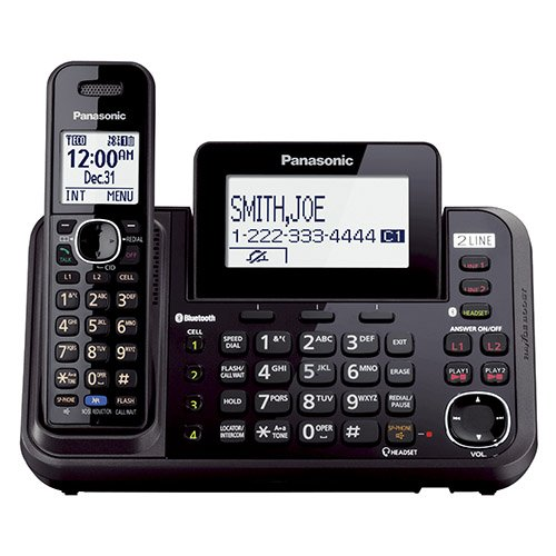 Panasonic KX-TG9541B Link2Cell Bluetooth Enabled 2-Line Phone with Answering Machine & 1 Cordless Handset (Enabled Handsets Bluetooth)