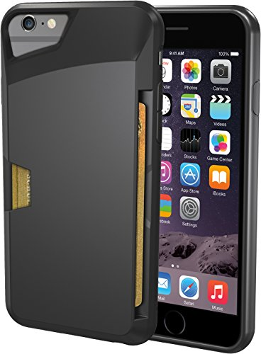 "Silk iPhone 6/6s Wallet Case - VAULT Protective Credit Card Grip Cover - ""Wallet Slayer Vol.1"" - Black Onyx"