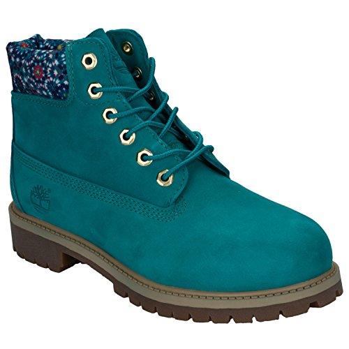 Timberland 6 In Premium WP Boot TEAL BLUE (Niños/Kids), Size: 32 EU (13.5 US / 13 UK)
