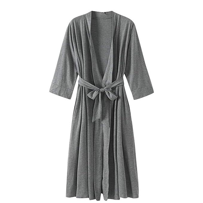 Pijama Kimono Mujer Bata Corto Ropa de Dormir Algodón Verano ...