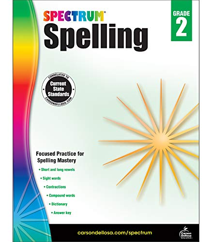 Carson-Dellosa Spectrum Spelling Workbook, Grade 2 (Words That Start With Short U Vowel Sound)