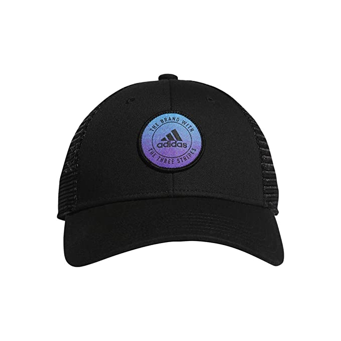 0428e0f0a3 adidas Women's Notion Structured Adjustable Cap, Black/Active Purple/Shock  Cyan, One