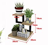 Antiseptic Wood Flower Stand Desktop Shelf Simplicity Solid Wood Flower Stand Desktop Storage Rack Shelf Mini Flower Stand Strong Bearing Capacity