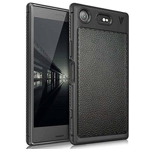 Price comparison product image Sony Xperia XZ1 Compact case, KuGi Sony Xperia XZ1 Compact case, [Scratch Resistant] Premium Flexible Soft Anti Slip TPU Case for Sony Xperia XZ1 Compact smartphone (Black)