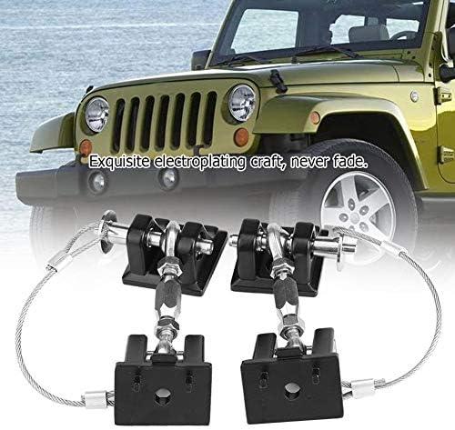KSTE Anti-vol Capot loquet de Verrouillage de Capot Catch Kit de Verrouillage for Jeep Wrangler JK 2007-2017