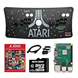 Atari Ultimate Arcade Fightstick USB Dual Joystick with Trackball 2 Player Game Controller Powered by Raspberry Pi 3B+ 1GB RAM 32GB Micro SD Card Preloaded Over 100 Classic Atari Games (Color: Fightstick w/Trackball + Raspberry Pi 3B+, Tamaño: Fightstick w/Trackball + Raspberry Pi 3B+)