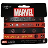 C&D Visionary RWB-MVL-0015-S Marvel Deadpool 4 pcs mini Rubber Wristbands