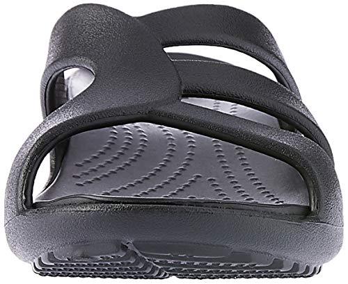 Crocs Sandalias Sanrah Con Mujer Black Para Strappy Wedge Cuña qBrwqfR