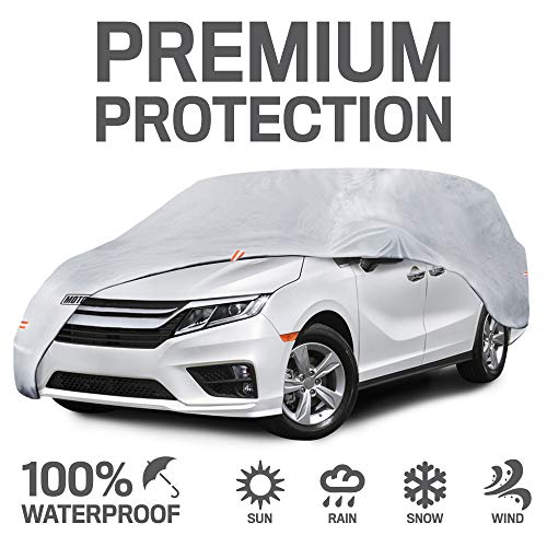 "Motor Trend CV00-C0 S-Fits Cover (7-Series Defender Pro Waterproof for All Weather-Snow Wind Rain & Sun-Heavy for Vans SUVs Crossovers Up to 185"")"