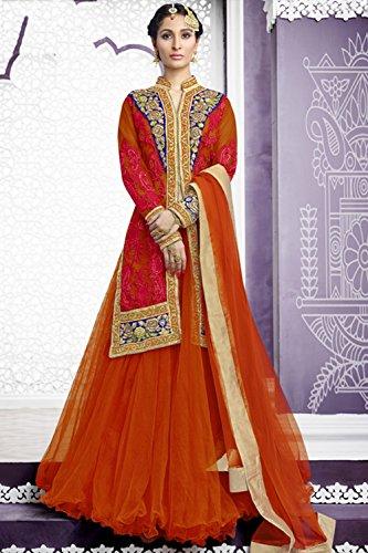 PCC Indian Women Designer Wedding orange Lehenga Choli K-4529-39522