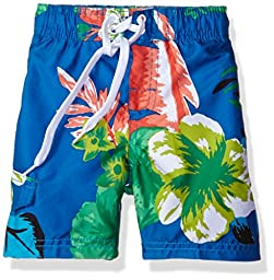Kanu Surf Big Boys\' Papagayo Floral Swim Trunk, Royal, Medium (10/12)