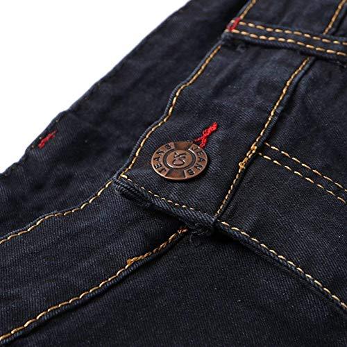 Del Vintage Battercake Fit Soft Cómodo Elásticos Trousers Slim Pants Mezclilla Denim Ssige Jeans Negro Pantalones Remiendo Hombres Fashion Los De rRYxw4nq6R