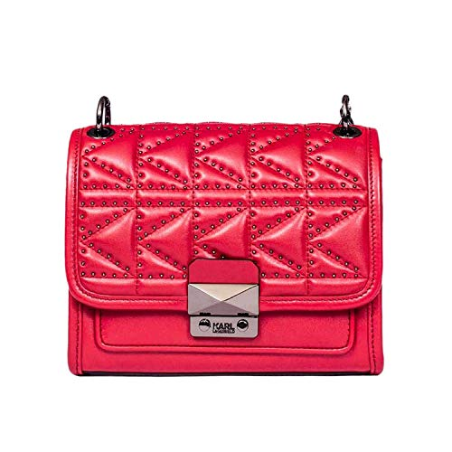 Bag Shoulder Leather Women's Lagerfeld Karl 86KW3013RED Red Z1fvZqY