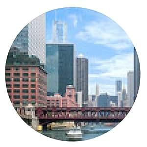 alfombrilla de ratón Barco del viaje Chicago - ronda - 20cm