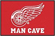 FANMATS 14426 NHL Detroit Red Wings Nylon Universal Man Cave Starter Rug