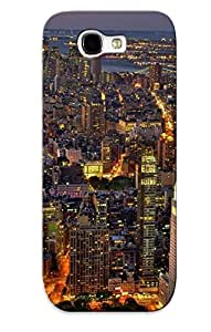 Galaxy Note 2 Case Cover - Slim Fit Tpu Protector Shock Absorbent Case (new York At Night )
