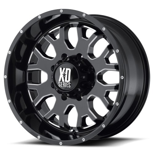 XD-Series  XD808 Gloss Black Wheel with Milled Accent - Wheels Black Rwd