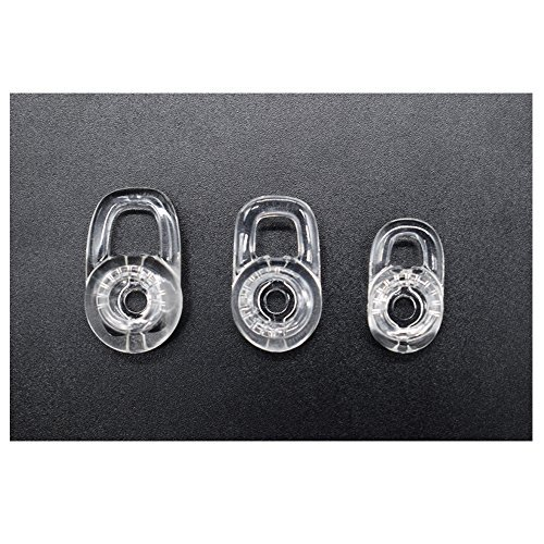 3 Clear Small Medium Large Eargels for PLANTRONICS DISCOVERY 925 975 Wireless Bluetooth Headset Ear Gels Buds Tips Eargel Earbud Eartip Earbuds Eartips Replacement Parts (Discovery 925 Replacement)