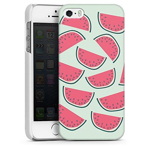"""artboxONE Handyhülle Apple iPhone SE, weiß Hard-Case Handyhülle """"Über Melonen Case"""" - Rock the kitchen - Smartphone Case mit Kunstdruck hochwertiges Handycover von Michaela Merzenich"""