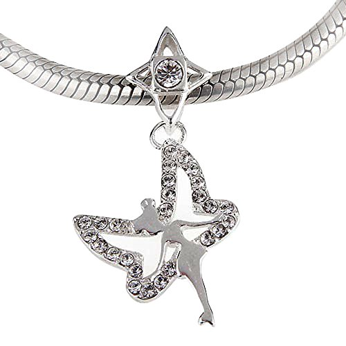 Ollia Jewelry 925 Sterling Silver Dangle Beads Tinkerbell