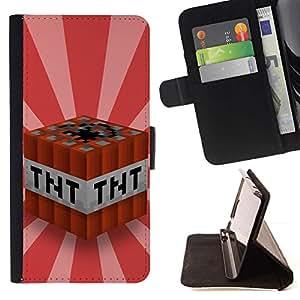 For Samsung Galaxy Note 3 III Case , Tnt Dinamita Arte retro del cartel Bond- la tarjeta de Crédito Slots PU Funda de cuero Monedero caso cubierta de piel