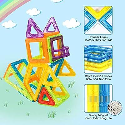 Theefun Blocchi Magnetici Serie Da 100 Pezzi Ispirati Alla Costruzione Standard Set Creativo E Ruota Panoramica Giocattolo Istruttivo Regalo Per I Bambini