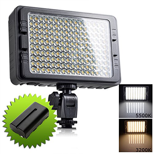 Emgreat 160 Ultra High Powered Super Bright LED Camera / Camcorder Video Light Dual Color Temperature 3200K-5500K