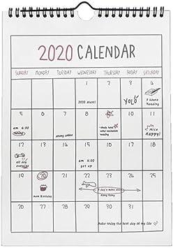 Calendarios de Escritorio Calendarios 2020 Mensual Anual 365 Días ...