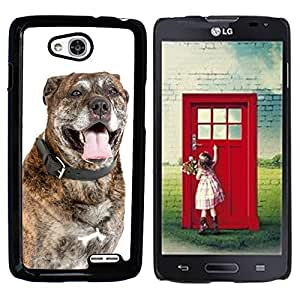 Super Stella Slim PC Hard Case Cover Skin Armor Shell Protection // M00104269 Dog Dogs Portrait // LG Optimus L90 D415