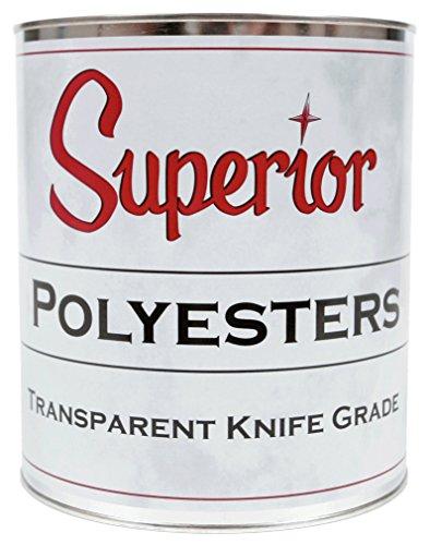 Grade Stone - Superior Stone Polyester Transparent Knife-Grade Adhesive (1 Gallon) for Natural Stone Filling & Laminating