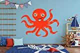 Octopus Wall Decal - Kids Room Decor - Nursery Mural Sticker (30'' tall x 40'' wide)