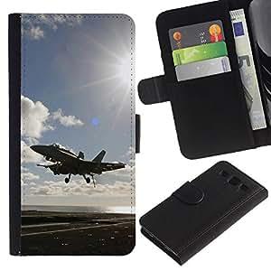 KingStore / Leather Etui en cuir / Samsung Galaxy S3 III I9300 / Volar luchador hasta