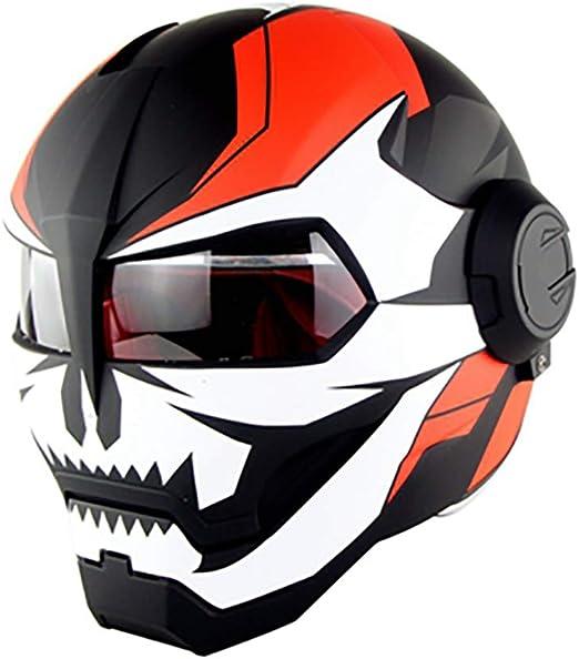 XYL Casco de la Motocicleta Cara Completa Certificado D.O.T ...