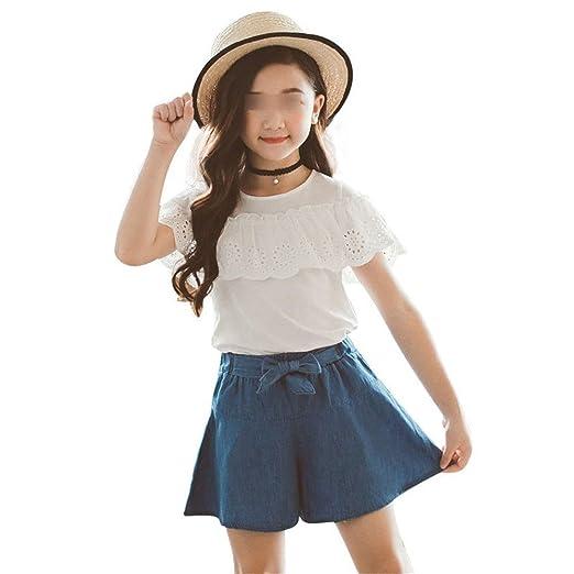 Camiseta y pantalón de manga corta para niñas Casual Camiseta con ...