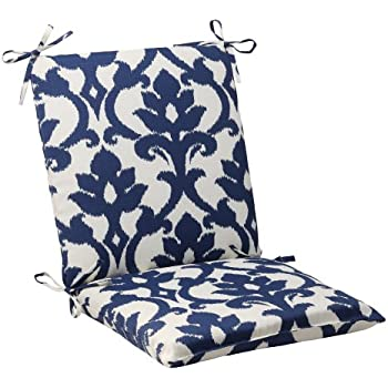 Pillow Perfect Indoor/Outdoor Bosco Squared Chair Cushion, Navy