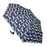 Drizzles Womens/Ladies Dachshund Dog Compact Umbrella (One Size) (Dark Blue)