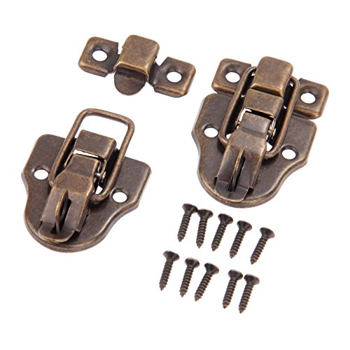 Dophee 10Pcs 2.32''x1.57'' Antique Bronze Retro Style Iron Toggle Fit Case Box Chest Trunk Latch Hasps by dophee (Image #2)