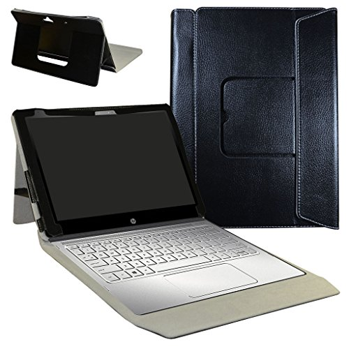 HP Spectre x2 12 Case,Mama Mouth 2-in-1 Romovable Portfolio PU Leather Folio Stand Cover For 12