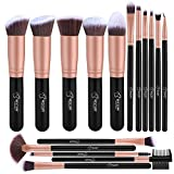 bestope BESTOPE Makeup Brushes 16 PCs Makeup Brush Set Premium Synthetic Foundation Brush Blending Face Powder Blush Concealers Eye Shadows Make Up Brushes Kit (Rose Golden)