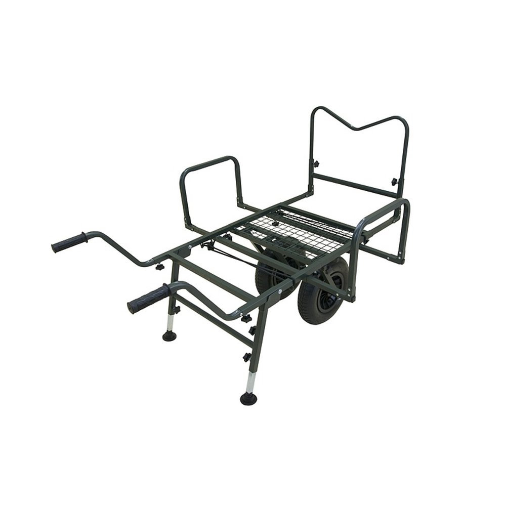 B.Richi Trolley THE GIANT Mod 2018 TRUCK Angelkarre h/öhenverstellbare Auflage Schubkarre belastbar bis 150kg 1,1qm Lagerfl/äche