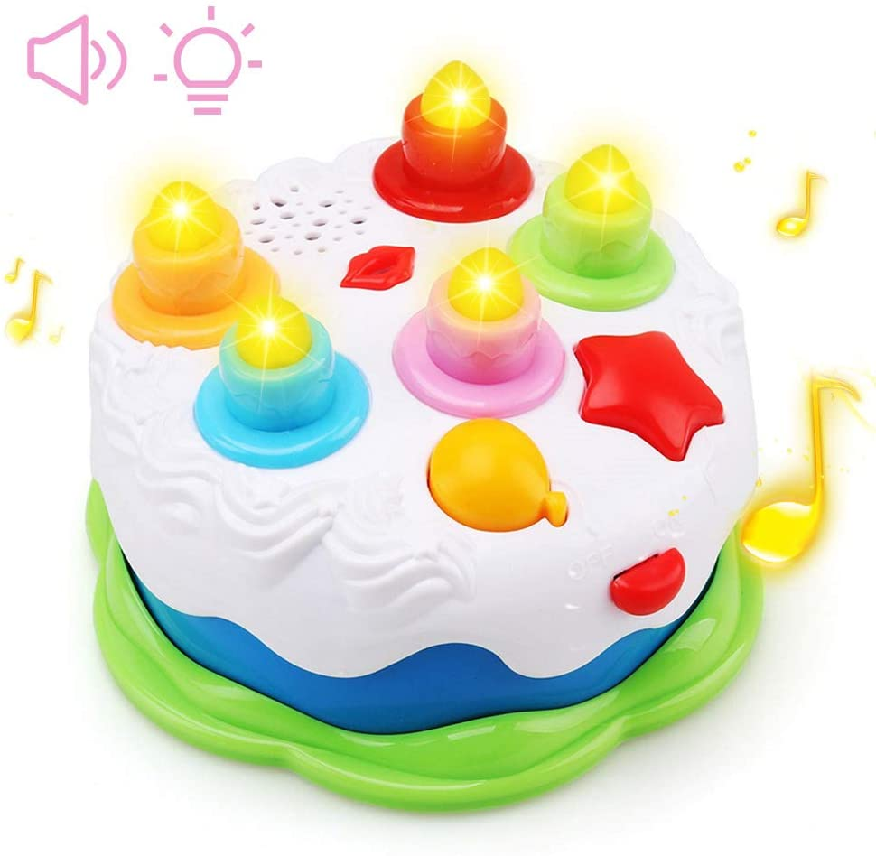 Amazon Com Amy Benton Kids Birthday Cake Toy For Baby Toddlers With Counting Candles Music Gift Toys For 1 2 3 4 5 Years Old Boys And Girls Home Improvement