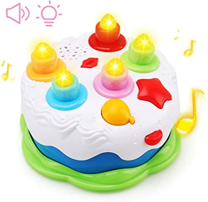 Terrific Amazon Com Amybenton Kids Birthday Cake Toy For Baby Toddlers Funny Birthday Cards Online Sheoxdamsfinfo
