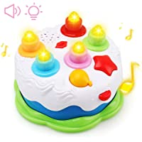 Amy&Benton Kids Birthday Cake Toy for Baby & Toddlers with Counting Candles & Music, Gift Toys for 1 2 3 4 5 Years Old Boys and Girls
