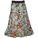 Mogul Interior Women's Long Maxi Skirts Printed Rayon Gypsy Hippie Skirt S/M