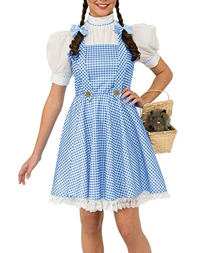 Bigyonger Womens Halloween Costumes Adult Wizard of Oz Dorothy Cosplay Dresses Blue -