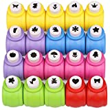Paper Punches Set, Kattool Mini Crafting Paper Punch Crafts Puncher Image Hole Cutters for Scrapbooks Albums Photos Cards and DIY Handcrafts, Pack of 20, 20 Patterns