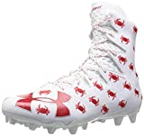 Under Armour Men's Highlight M.C. -Limited Edition Lacrosse Shoe, White (161)/Red, 8