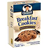 Quaker Breakfast Cookies, Oatmeal Chocolate Chip, 6-1.69oz Cookies Per Box