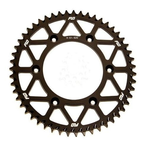 FLO MOTORSPORTS O-RING CHAIN AND SPROCKET COMBO KIT YAMAHA YZ125 / YZ250F 13T FRONT / 48 - 53 TOOTH REAR SPROCKET (49T, BLACK) by Flo Motorsports (Image #2)'
