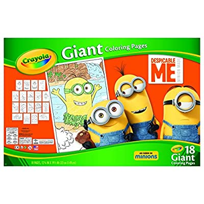 Crayola Despicable Me Giant Coloring Pages Toy: Toys & Games